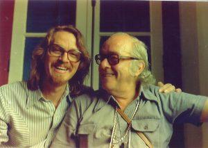 Carlos Bracher e Vinícius de Moraes, nos anos 70