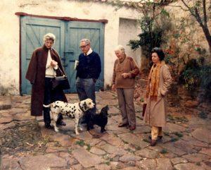 Lili Correia com o secretário de governo norte americano, Henri Kissinger e a esposa